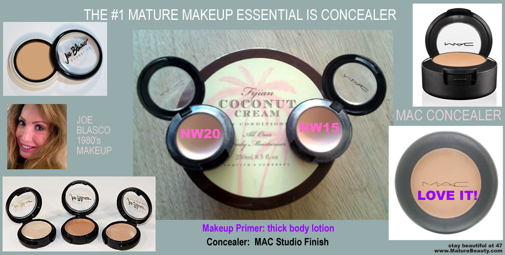 MAC Studio Finish Concealer, Flawless Skin, Mature Makeup, Over 40 Makeup, Over 50 Makeup