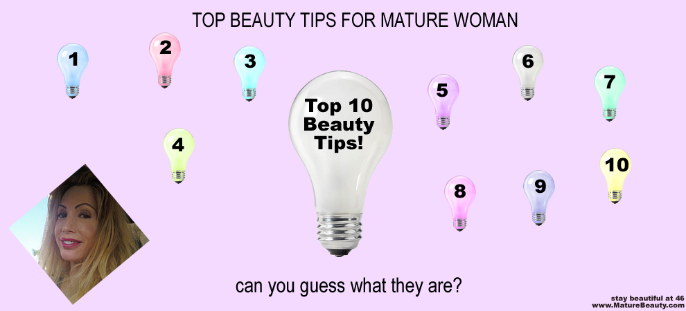 10 Beauty Tips for Mature Women
