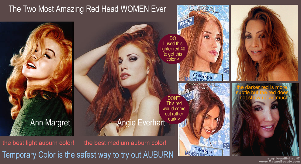 Movie Star Auburn Hair Color can look Sexy and Amazing if you find a natural