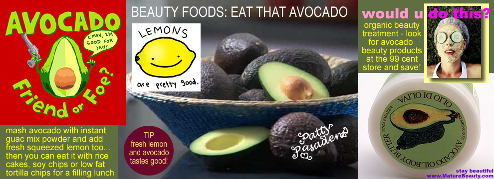 beauty foods avocado, avocado beauty, healthy beauty avocado, silky hair avocado, discount store avocado, avocado beauty products, organic beauty products, fruity beauty, beauty organic