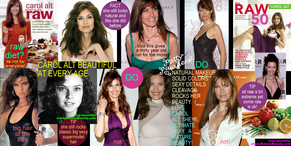 supermodels, carol alt, healthy diet food, healthy eating diets, weight loss diet, aging, healthy eating for weight loss, diet food, raw food, raw food lifestyle, carol alt books, carol alt beauty secets, aging supermodel, celebrity beauty tips, beauty secrets of the stars