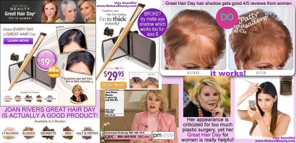 hair restoration for women, hair restoration products, hair replacement, hair restoration, chemo hair loss, chemotherapy hair loss, hair regrowth for women, hair transplant for women, top hair loss products, natural hair regrowth, hair loss products for women, stop hair loss now, conceal hair loss, pink scalp, shiny scalp, conceal balding, joan rivers products, joan rivers plastic surgery, joan rivers awful plastic surgery, great hair day, qvc hair products, hsn hair products, hair shadow, makeup to hide bald spots, spray to hide balding spots, bald spot makup for women